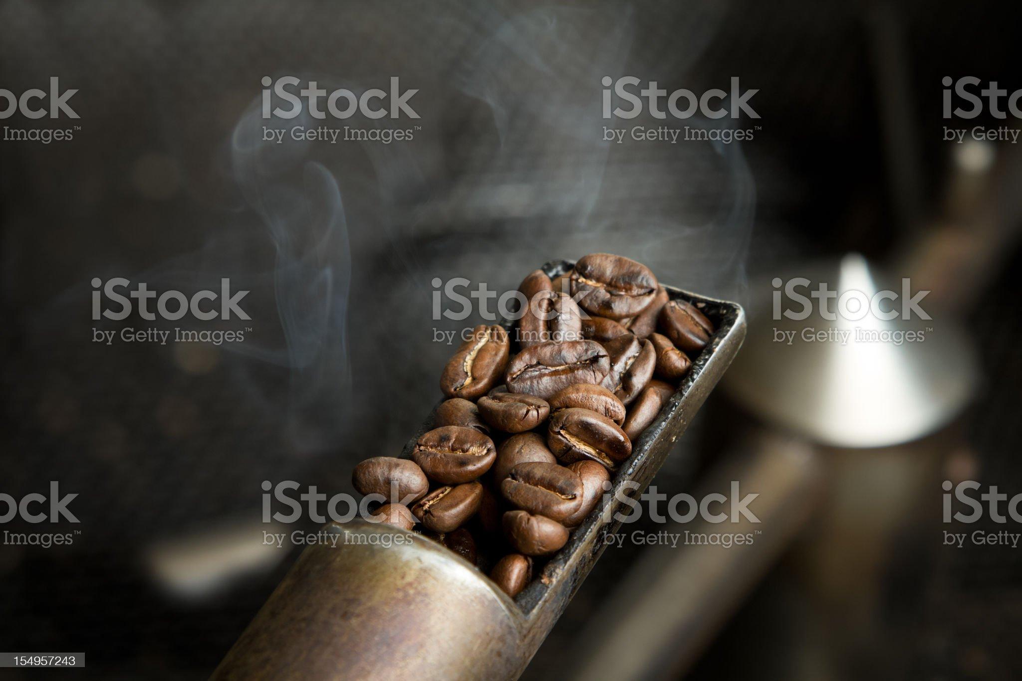 Coffee Beans Roasting Sample royalty-free stock photo