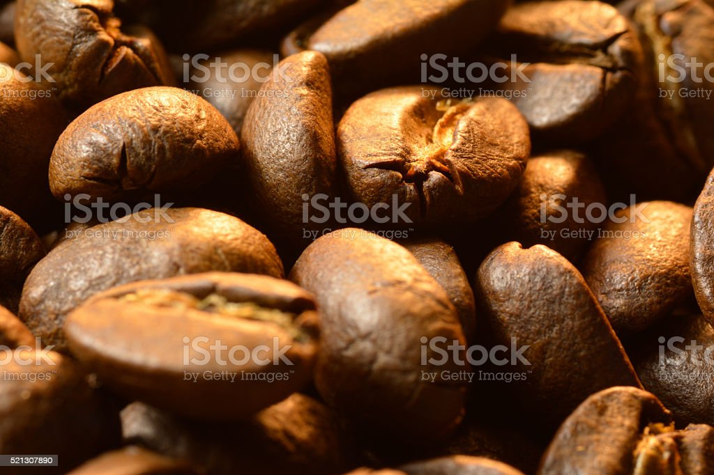 Coffee beans smell the aroma of fresh expresso stock photo