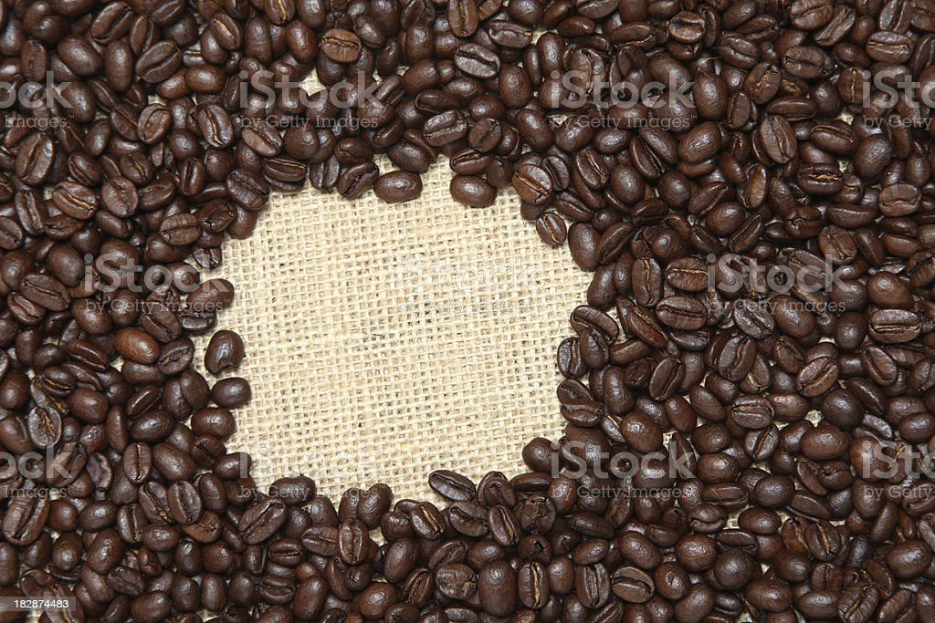Coffee beans square royalty-free stock photo