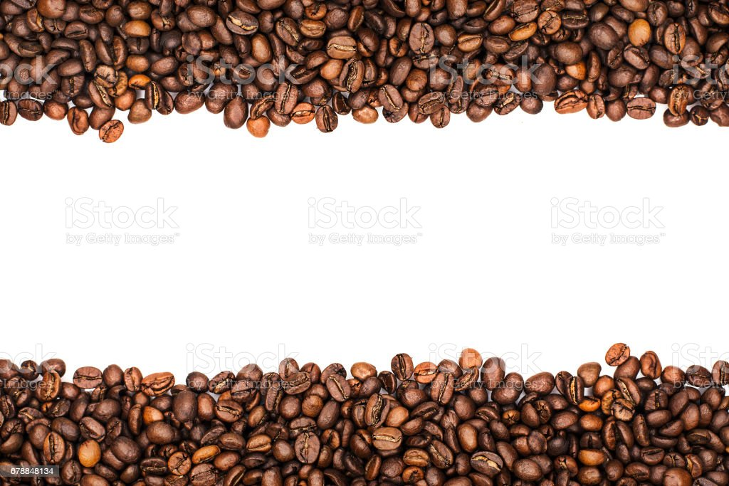 coffee beans stripes isolated in white stock photo
