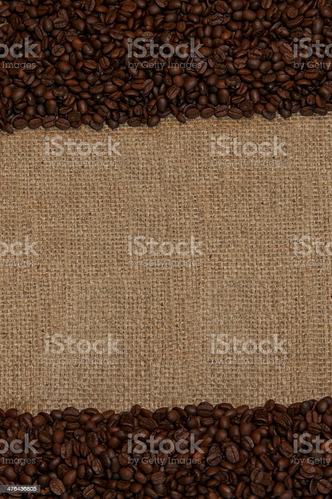 Coffee Beans Top And Bottom royalty-free stock photo