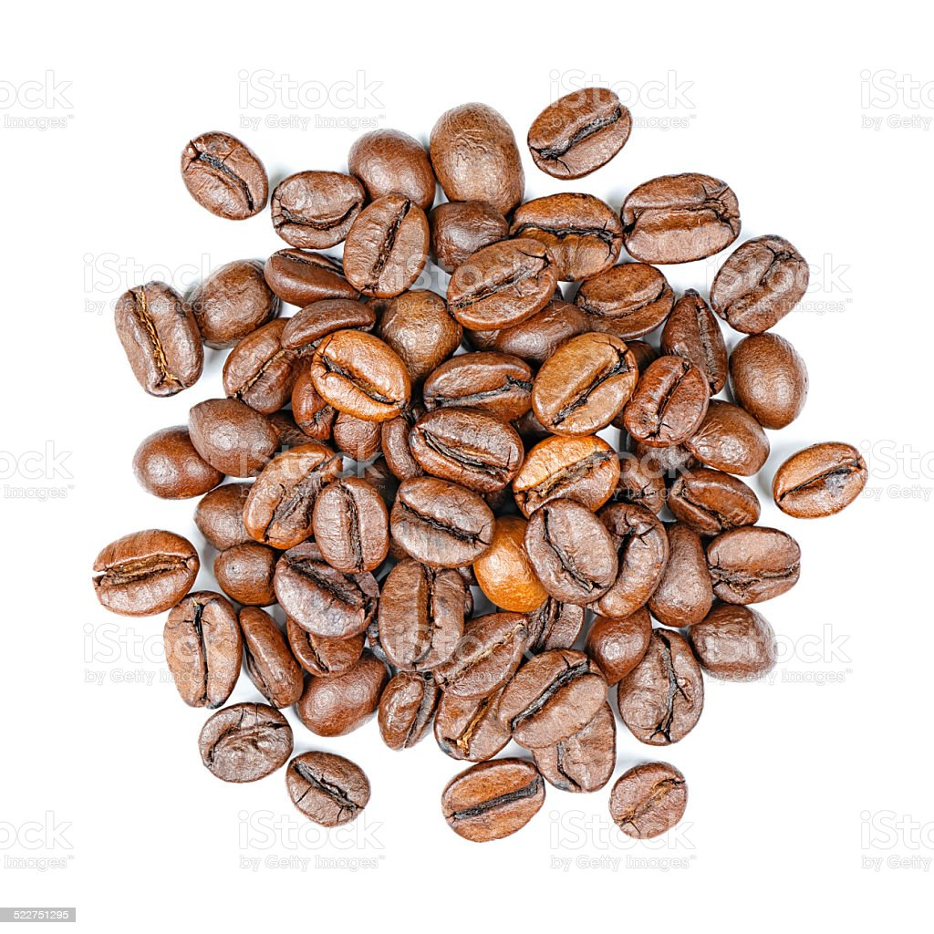 Coffee beans top view stock photo