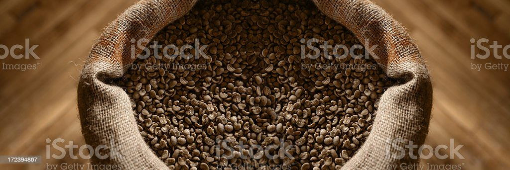 Coffee Beans with Oak Floor royalty-free stock photo