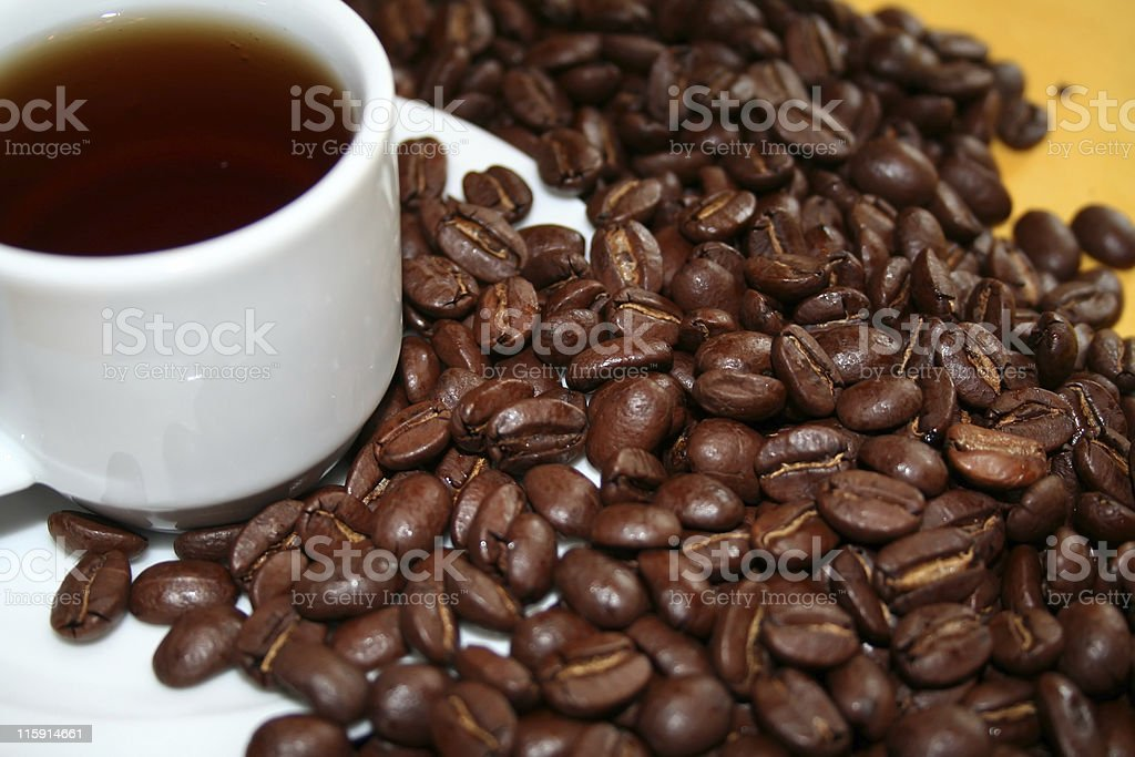 Coffee Before and After royalty-free stock photo