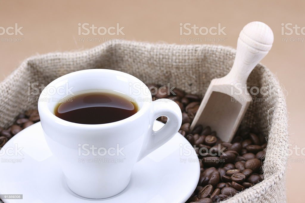 Coffee Black in Bag stock photo