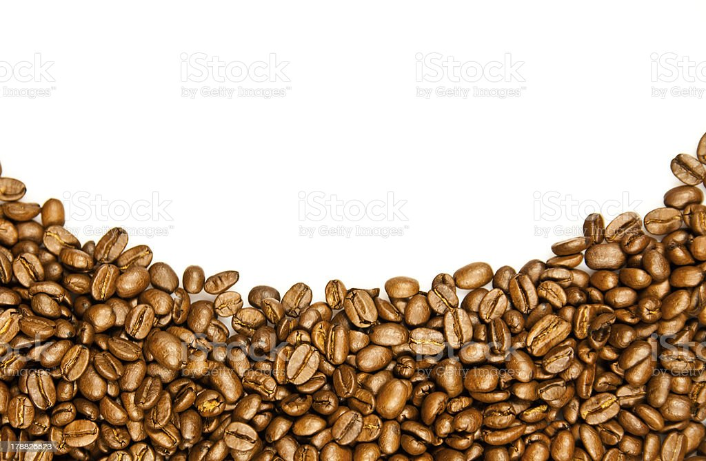 Coffee Border. royalty-free stock photo