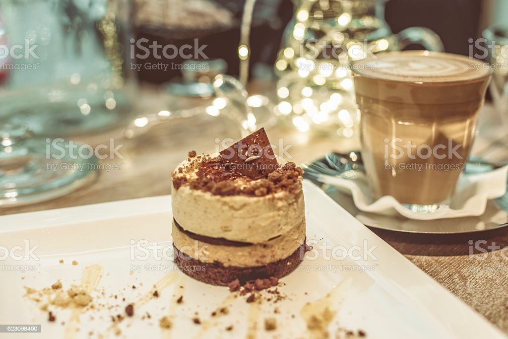 Coffee break at Christmas time stock photo