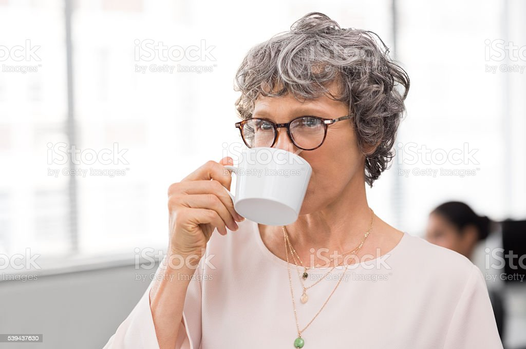 Coffee break at office stock photo
