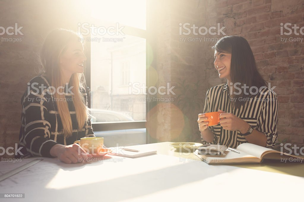 Coffee Break At The Office stock photo