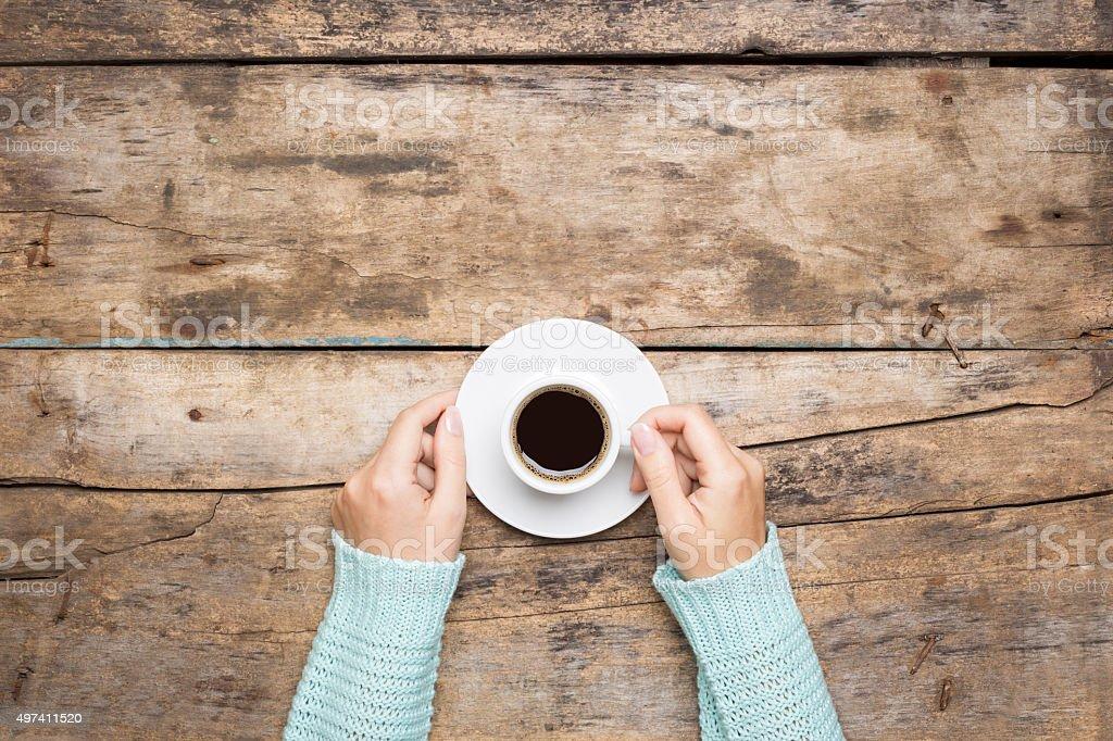 Coffee break background stock photo