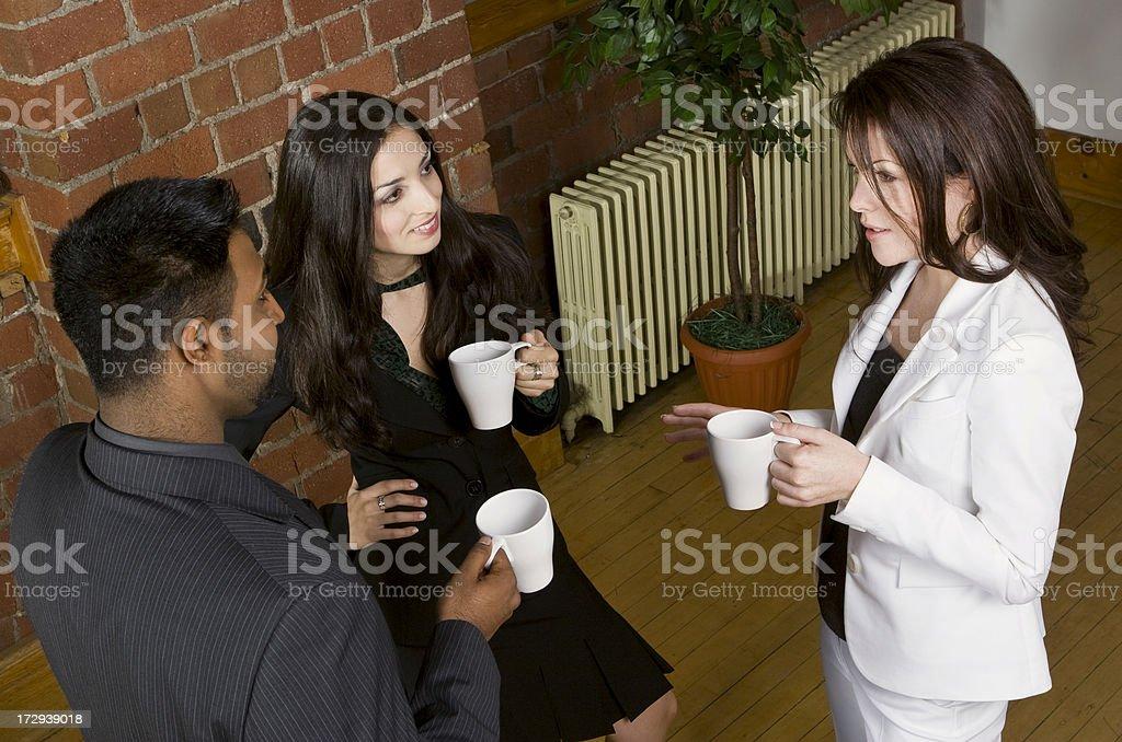 Coffee Break Chat royalty-free stock photo