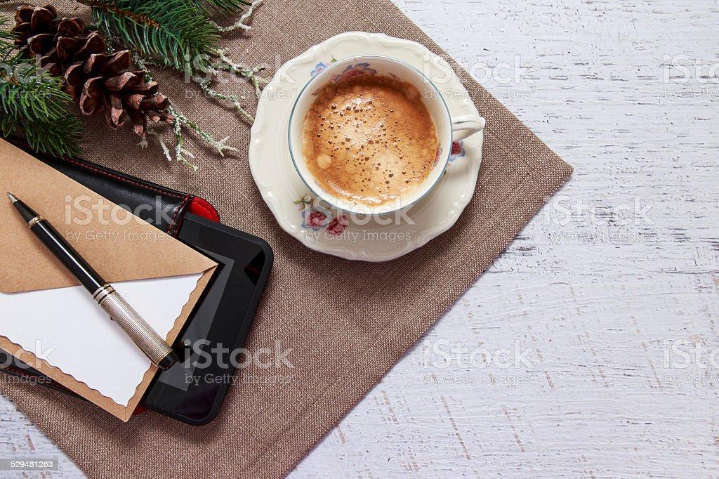 Coffee break concept background stock photo