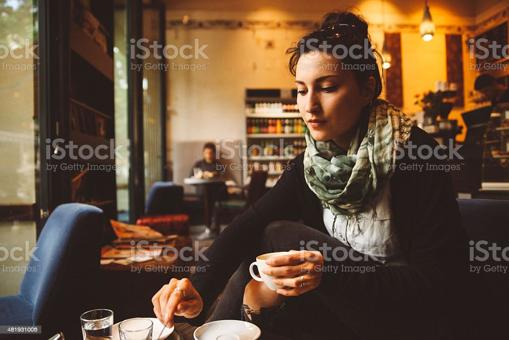 Coffee break in Berlin Kreuzberg stock photo