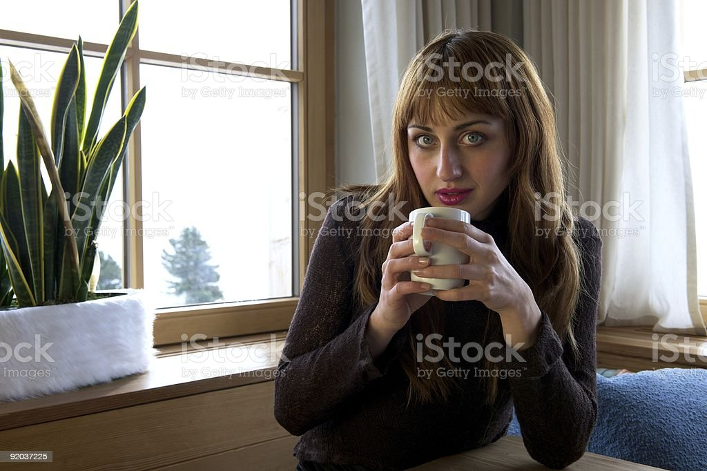 Coffee Break in restaurant royalty-free stock photo