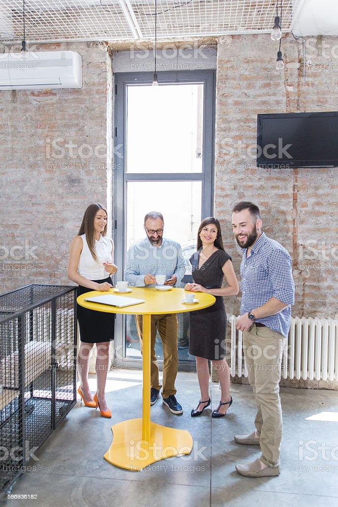Coffee break in the office stock photo