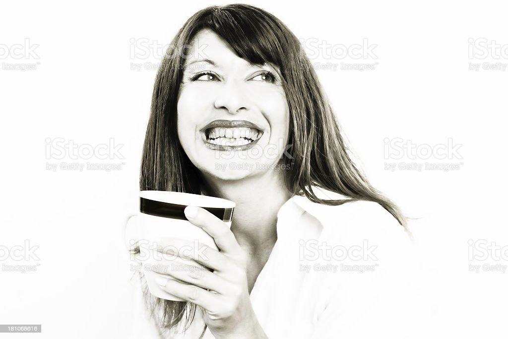 Coffee break (high key) royalty-free stock photo