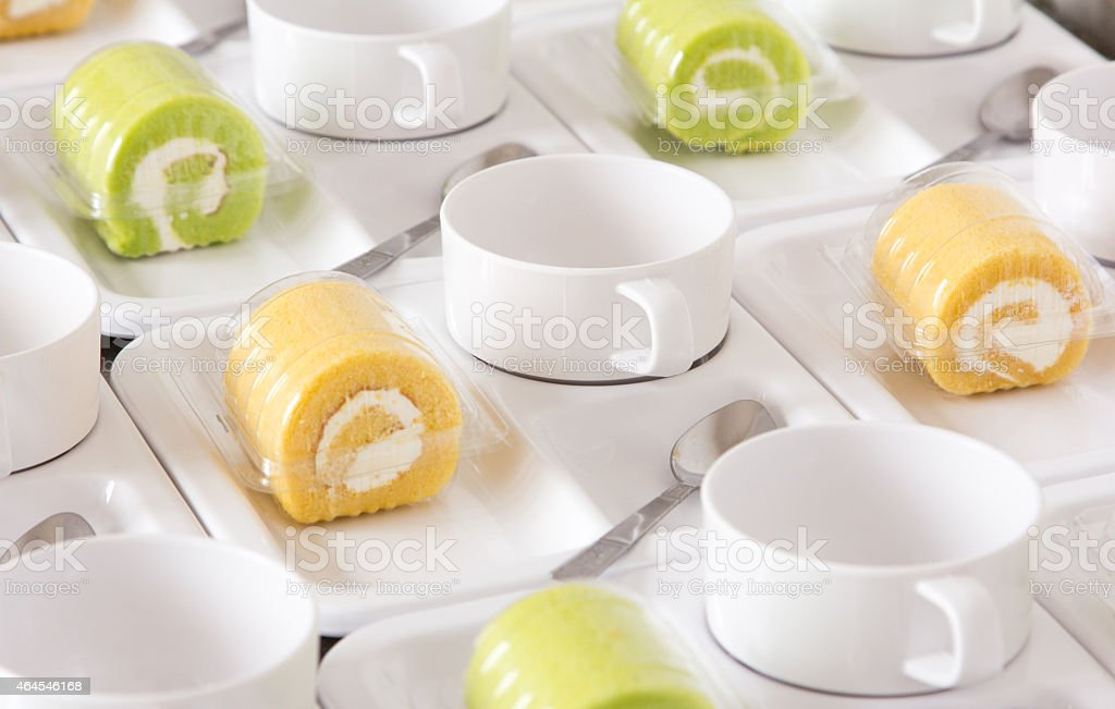 Coffee break set stock photo