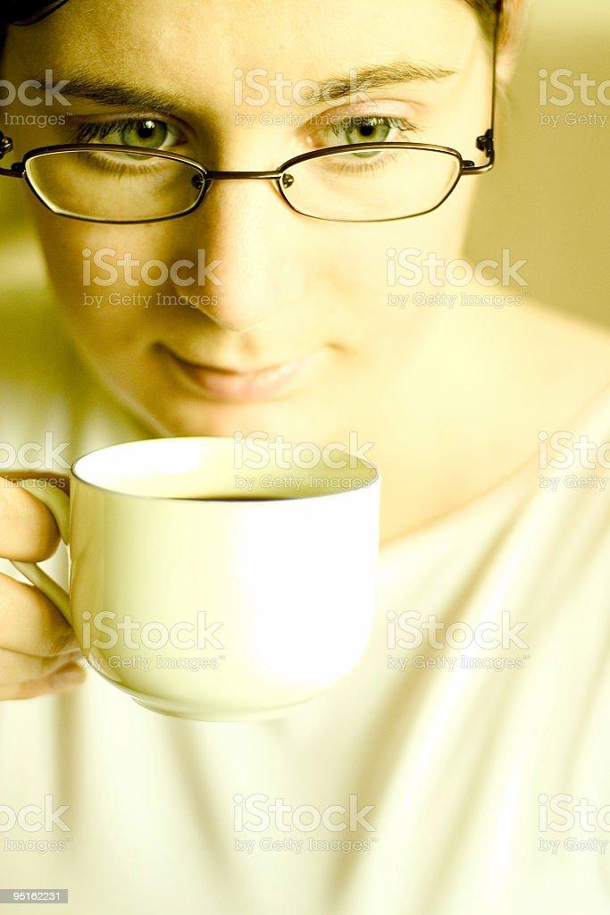 Coffee break - very high contrast royalty-free stock photo