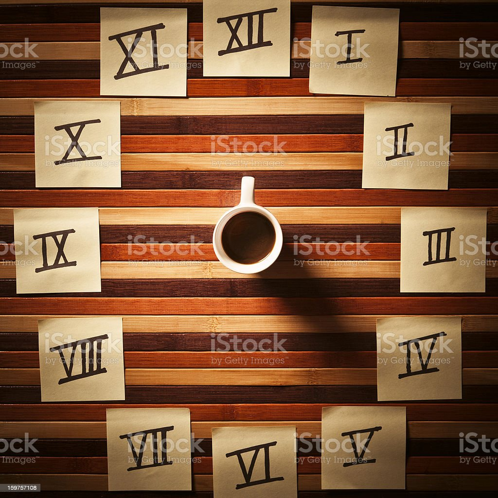 Coffee Break Watch. Time Concept royalty-free stock photo