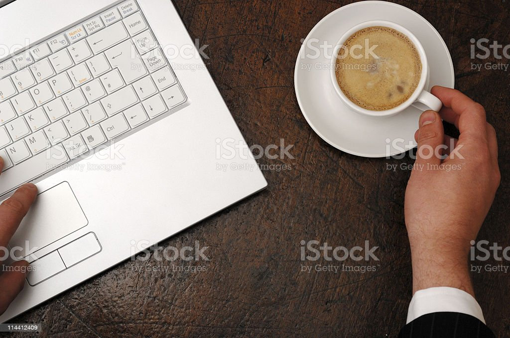 coffee break while working royalty-free stock photo