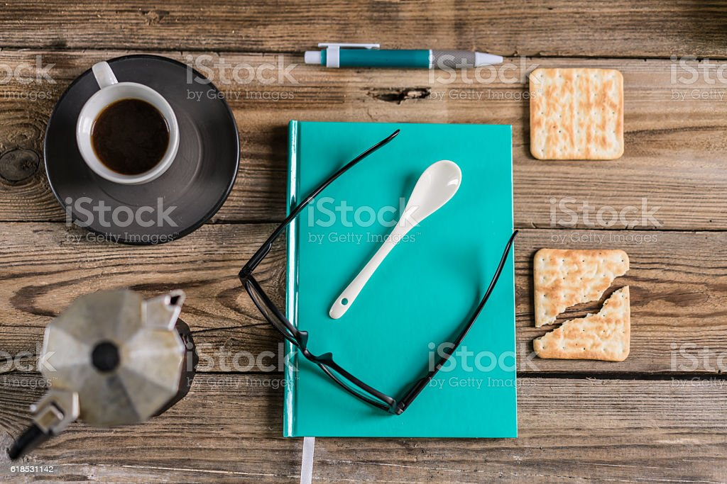Coffee, breakfast, dreaminess. stock photo