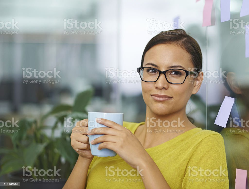 Coffee breaks are the best part of the day! stock photo