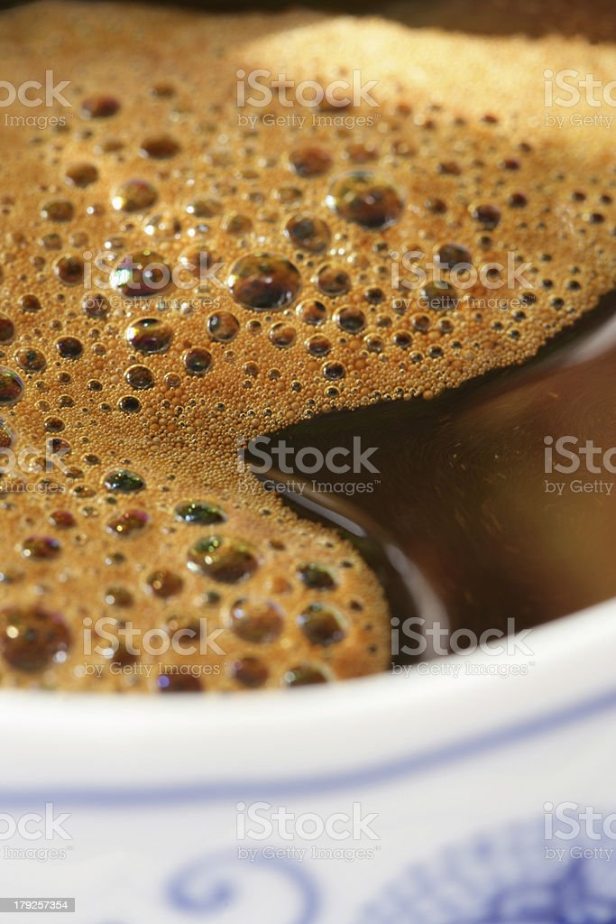 coffee bubbles royalty-free stock photo