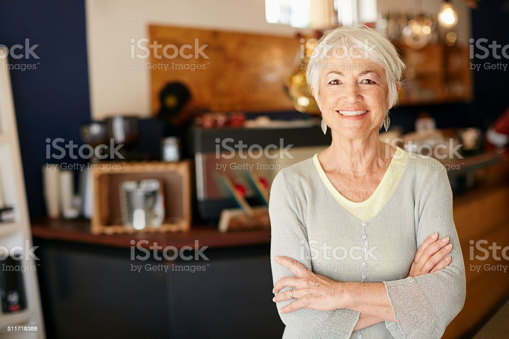 Coffee calling your name? Come on in stock photo