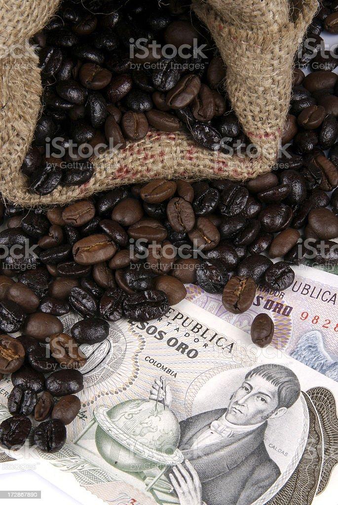 coffee canvas bag royalty-free stock photo