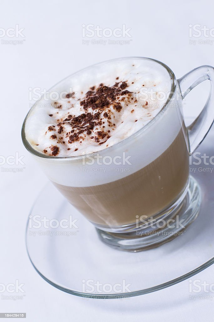 Coffee Cappuccino or Latte stock photo