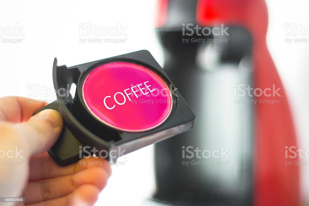 Coffee capsule stock photo