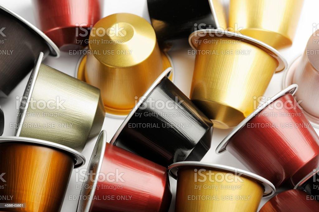 Coffee Capsules for Nespresso Machine stock photo