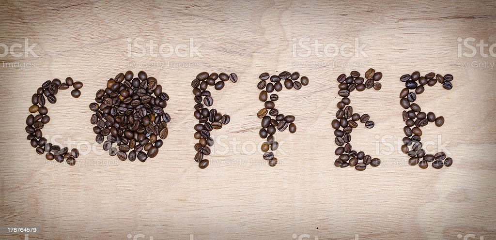 Coffee caption royalty-free stock photo