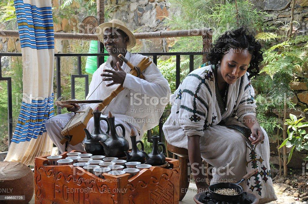 Coffee ceremony stock photo