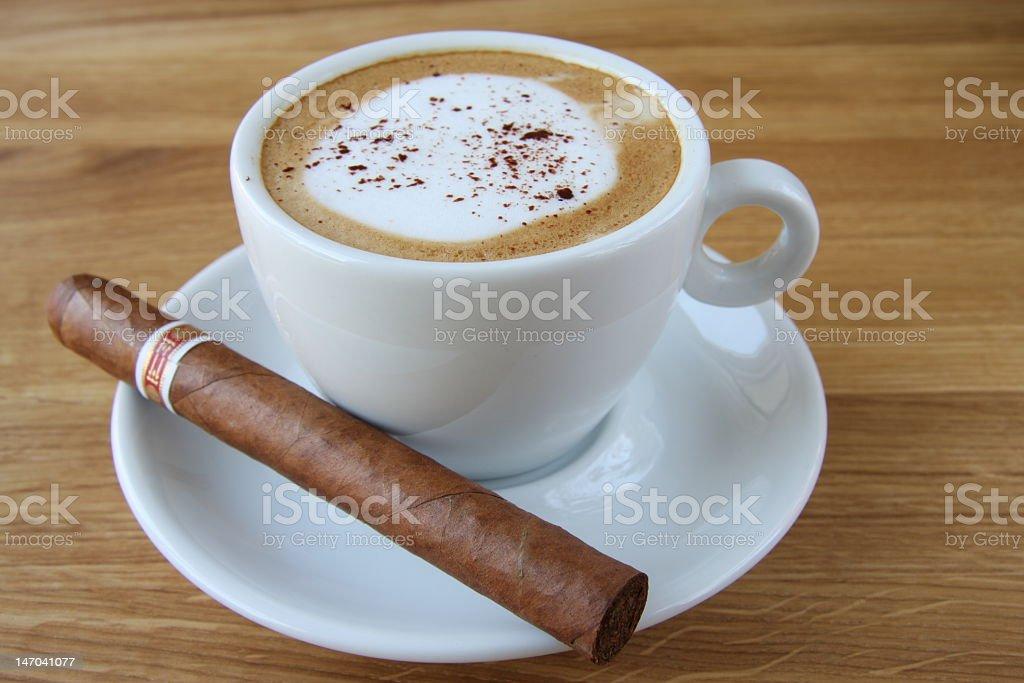 Coffee & Cigar stock photo