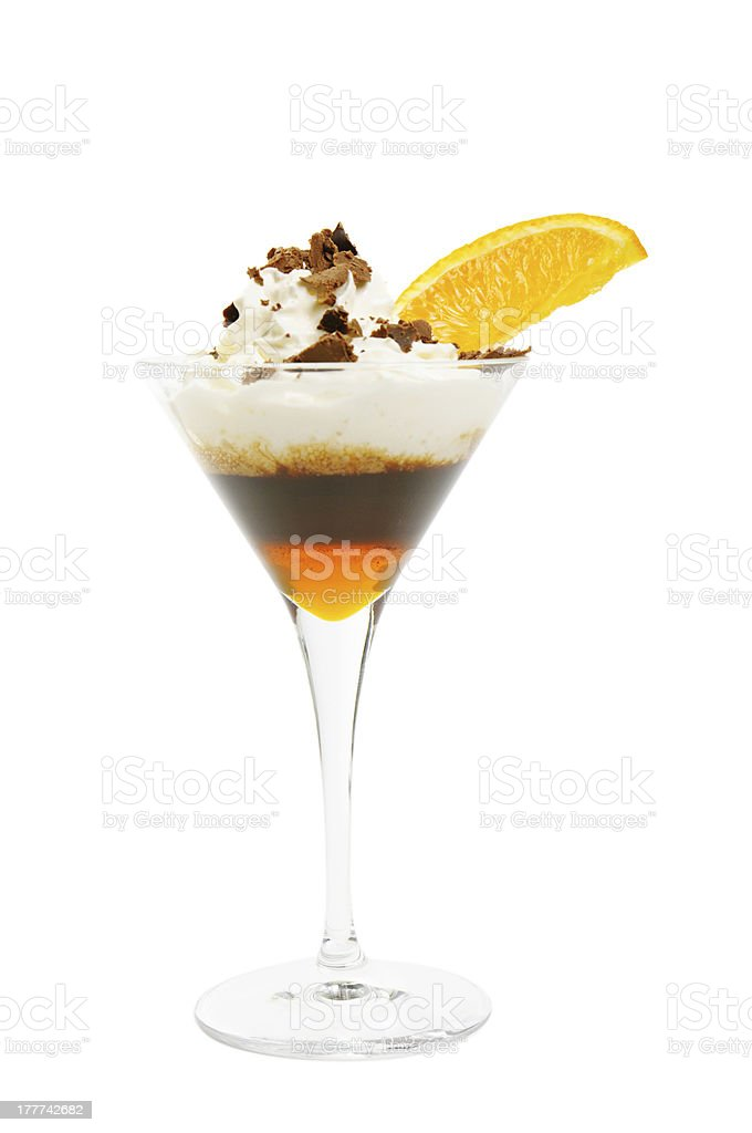 Coffee cocktail isolated royalty-free stock photo