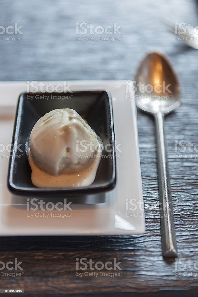 Coffee & coconut flavoured ice cream stock photo