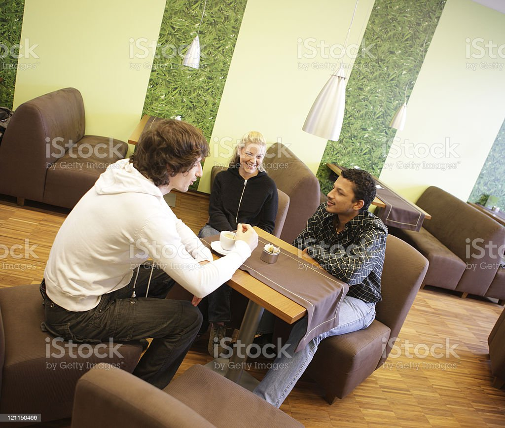 Coffee Corner Friends royalty-free stock photo