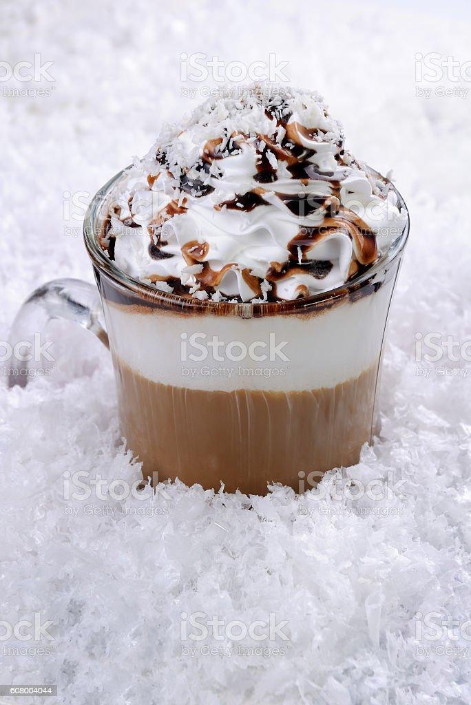 coffee cream in irish  mug stock photo