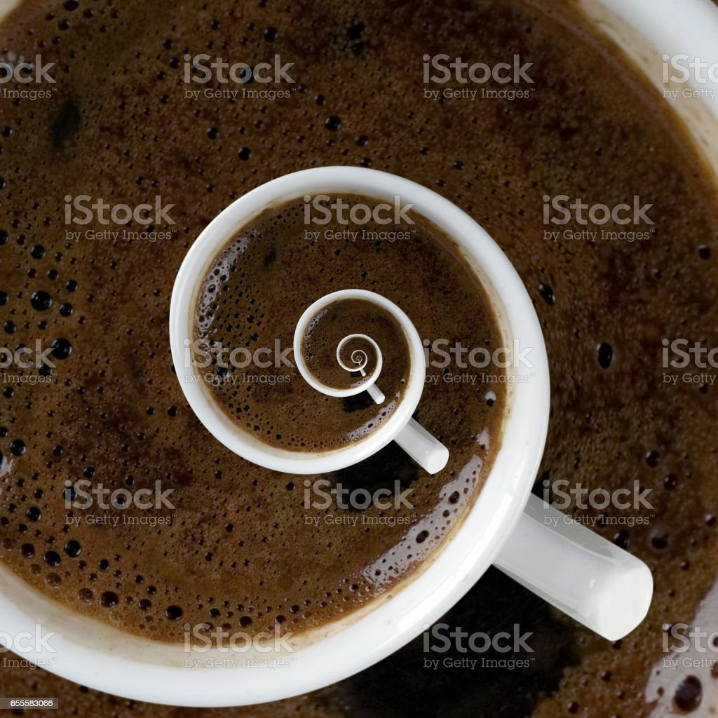 Coffee Cup Above stock photo