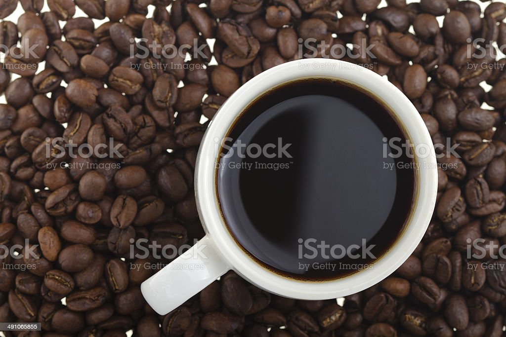 Coffee cup and bean royalty-free stock photo