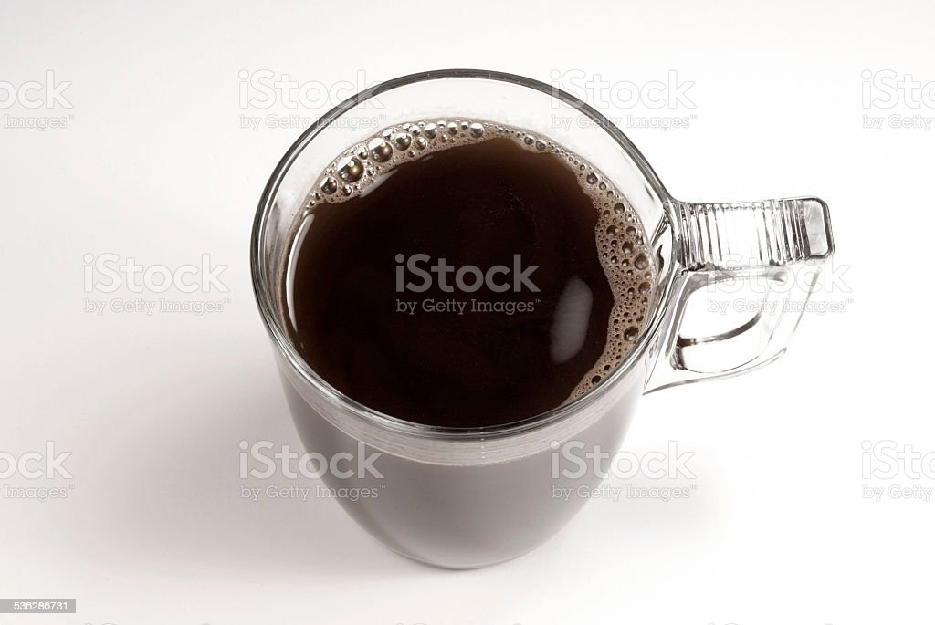 Coffee cup and beans on a white background. stock photo