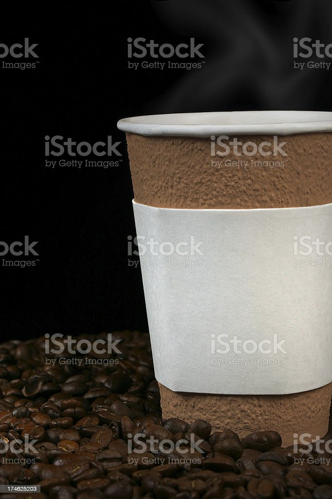Coffee Cup and Beans royalty-free stock photo