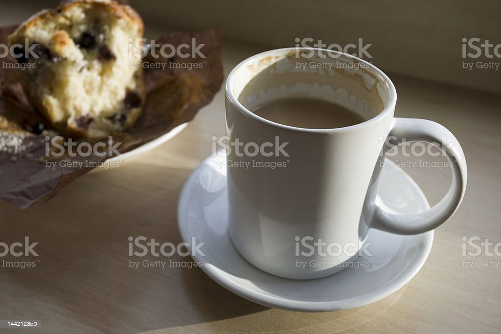 coffee cup and muffin royalty-free stock photo