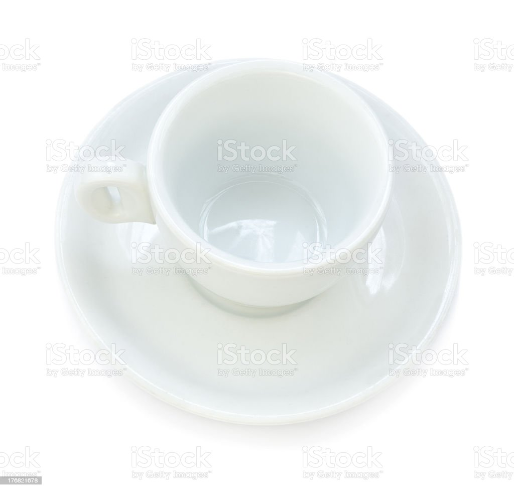 Coffee Cup and Plate royalty-free stock photo
