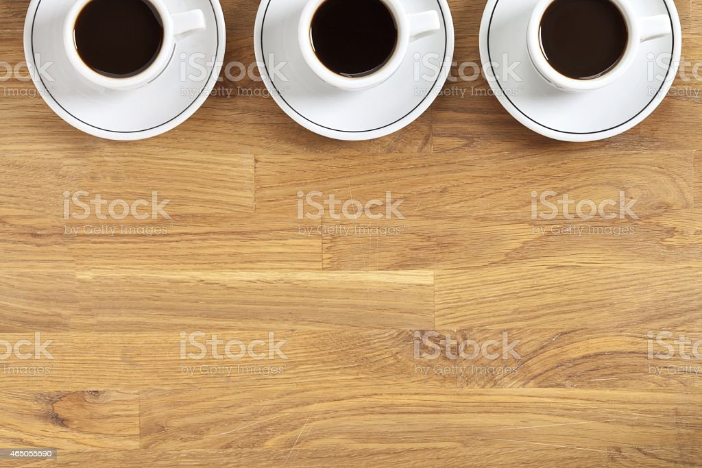 coffee cup and saucer on table stock photo