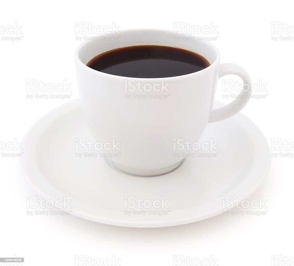 Coffee Cup and Saucer (with path) stock photo