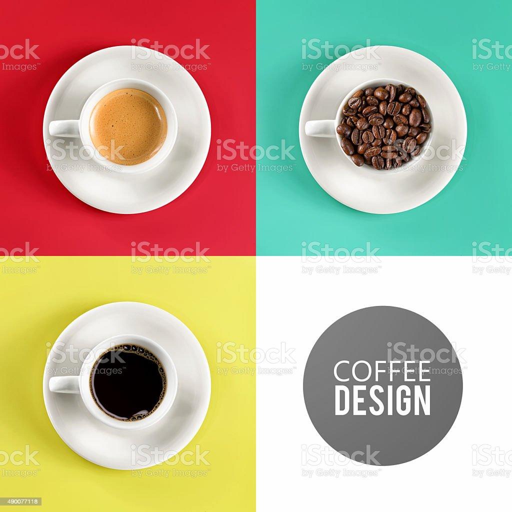 coffee cup art design stock photo