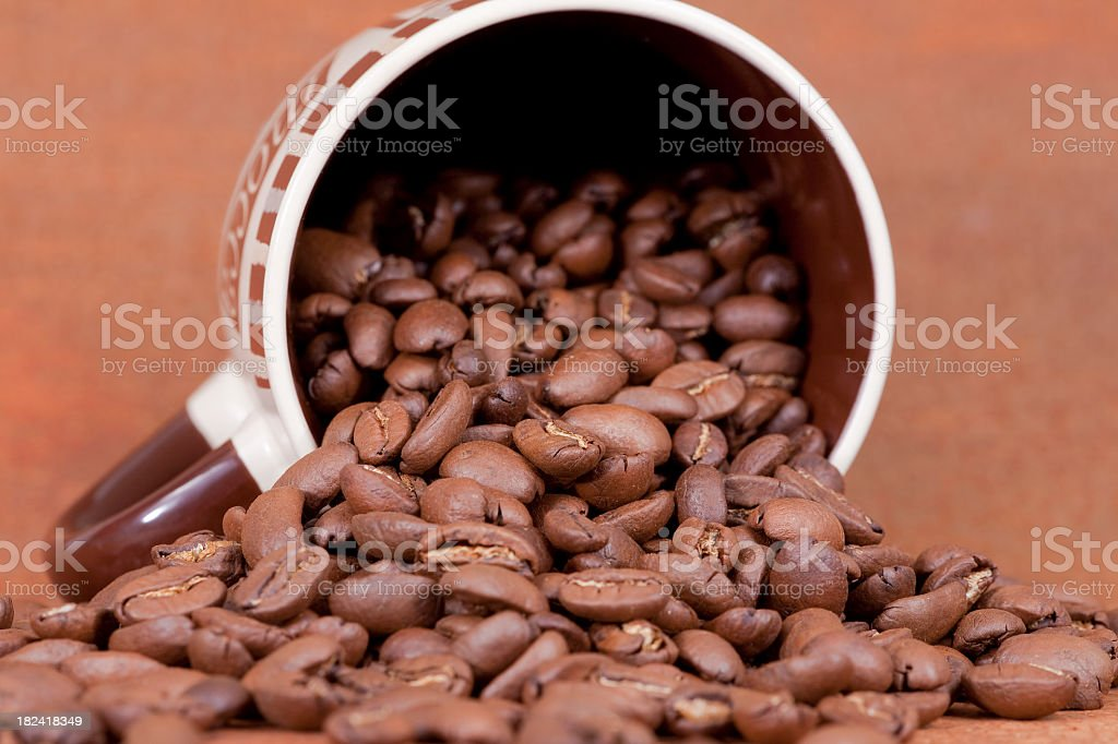 Coffee Cup: Brown royalty-free stock photo