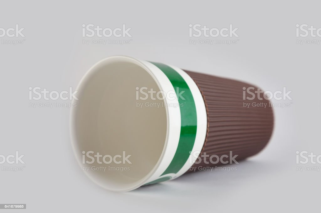 coffee cup ceramic with lid stock photo